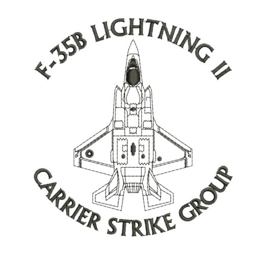 small resolution of f 35b lightning ii carrier strike group f35 aircraft embroidered polo t shirt